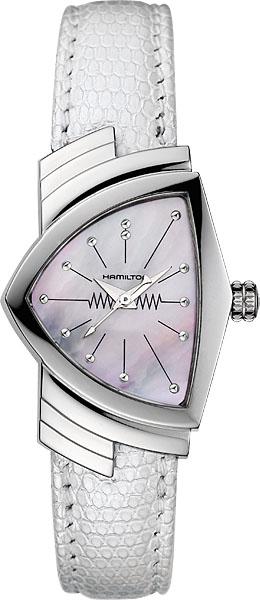 送料無料 HAMILTON ハミルトン 腕時計 ベンチュラ レディース MOP H24211852 正規品 防水 クオーツ レディースウォッチ ホワイト 皮ベルト ギフト 誕生日 プレゼント