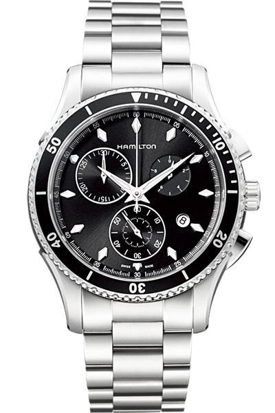送料無料 HAMILTON ハミルトン 腕時計 シービュークロノグラフクォーツ H37512131 国内正規品 メンズ 防水 アメリカンクラシック ブラック クオーツ ギフト 誕生日 プレゼント バレンタイン
