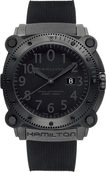 HAMILTON 해밀튼 손목시계 카키 BeLOW 제로 1000 m방수 오토매틱 블랙 Ref.H78585333 정규품