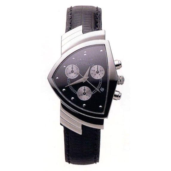 送料無料 HAMILTON ハミルトン ベンチュラ クロノ Ref.H24412732 正規品 腕時計 メンズ 防水 アメリカンクラシック ブラック クオーツ ギフト 誕生日 プレゼント バレンタイン