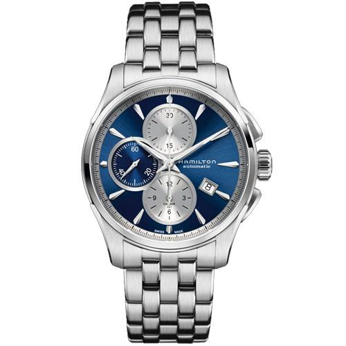 送料無料 HAMILTON ハミルトン 腕時計 Jazzmaster Auto Chrono ジャズマスター オートクロノ 自動巻 クロノグラフ H32596141 正規品 メンズ 防水 ブルー ギフト 誕生日 プレゼント バレンタイン
