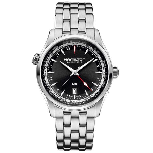 送料無料 HAMILTON ハミルトン 腕時計 Jazzmaster ジャズマスター GMT 自動巻 H32695131 正規品 メンズ fs04gm 防水 トラベラーズウォッチ ブラック ギフト 誕生日 プレゼント バレンタイン