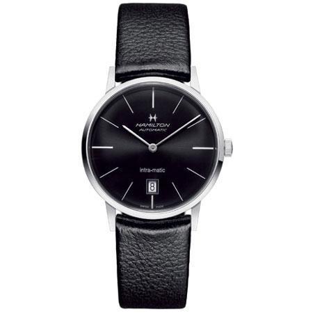 送料無料 HAMILTON ハミルトン 腕時計 ジャズマスター イントラマティック 自動巻 H38455731 正規輸入品 メンズ 防水 革ベルト ブラック ギフト 正規品 誕生日 プレゼント バレンタイン