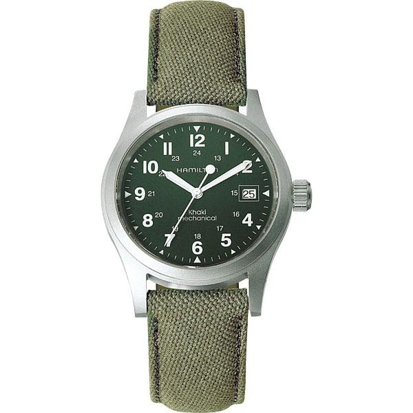 送料無料 HAMILTON ハミルトン カーキフィールドメカ38mm メンズ腕時計 H69419363国内正規品 防水 自動巻き キャンバスストラップ グリーン ミリタリー カジュアル ギフト 誕生日 プレゼント