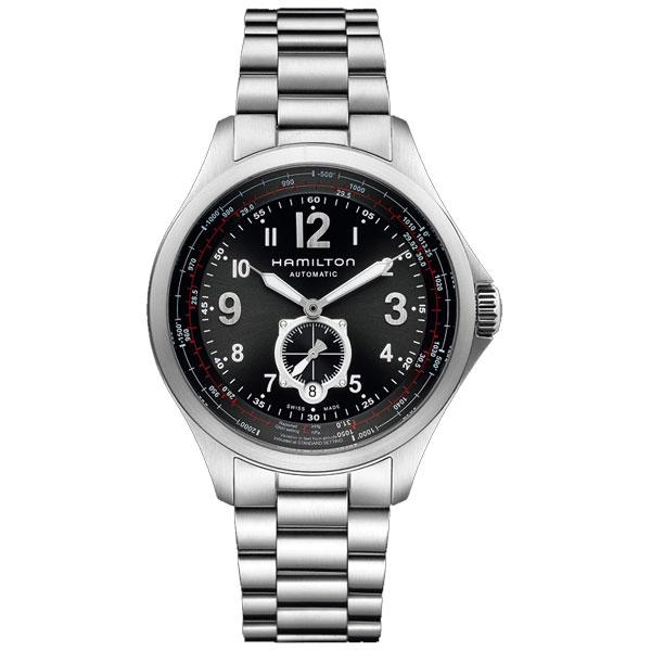 送料無料 HAMILTON ハミルトン 腕時計 KHAKI AVIATION QNE カーキ アビエーション H76655133 国内正規品 メンズ fs04gm 防水 機械式自動巻 ブラック ギフト 誕生日 プレゼント
