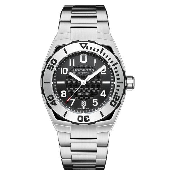 送料無料 HAMILTON ハミルトン 腕時計 カーキネイビー サブオート 42mm H78615135 国内正規品 メンズ 防水 クォーツ スポーツウォッチ ブラック ステンレス ギフト 誕生日 プレゼント