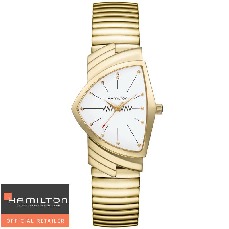 送料無料 HAMILTON ハミルトン 腕時計 Ventura Classic Quartz ベンチュラ フレックスブレスレットクォーツ H24301111 国内正規品メンズ