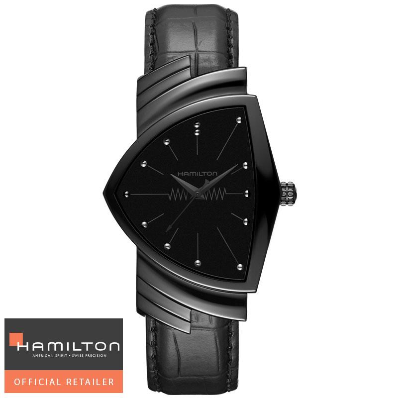 ハミルトン HAMILTON 腕時計 Ventura Classic Quartz ベンチュラ クォーツ ブラック H24401731 国内正規品メンズ 送料無料