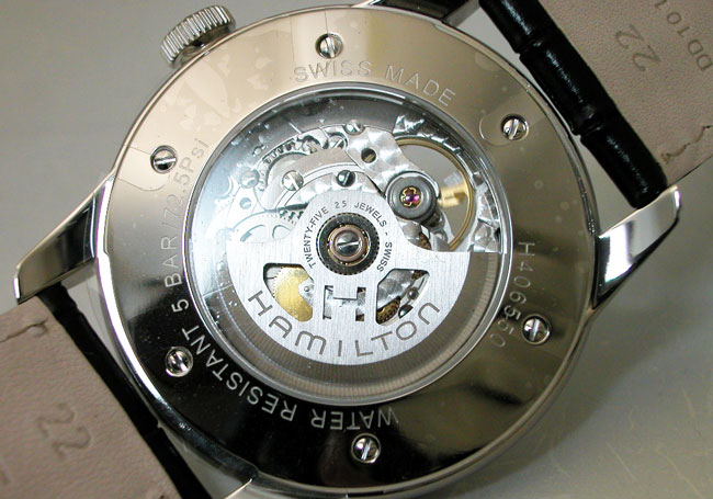 HAMILTON 해밀턴 시계 레일 로드 자동 RailRoad Skeleton 해골 Auto 자동 권 H40655751 국내 정품 남성용