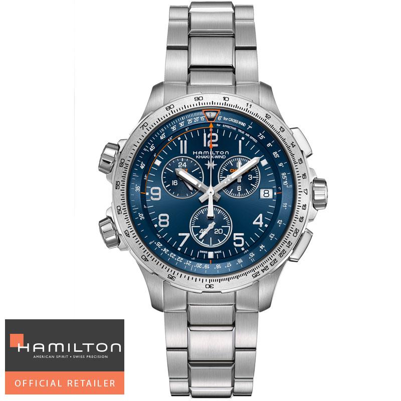 送料無料 HAMILTON ハミルトン 腕時計 X-Wind クロノグラフ Chrono Quartz GMT カーキ X-ウィンド GMT H77922141 国内正規品