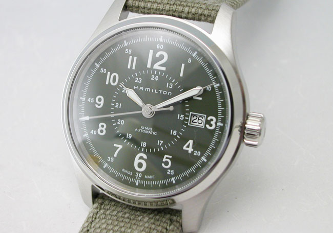 Hamilton Hamilton Watch Kirkifieldort 40 Mm Green Canvass Trap H70595963 Regular Domestic