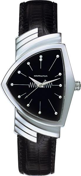 送料無料 HAMILTON ハミルトン 腕時計 ベンチュラ レザーストラップ付 Ref.H24411732 国内正規品 メンズ fs04gm 防水 機械式自動巻 ブラック 皮ベルト ギフト 誕生日 プレゼント