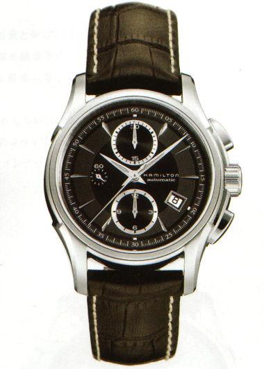 送料無料 HAMILTON ハミルトン 腕時計 ジャズマスタークロノグラフ Ref.H32616533 国内正規品 fs04gm メンズ 防水 機械式自動巻 ブラック 皮ベルト ギフト 誕生日 プレゼント ジャズマスター