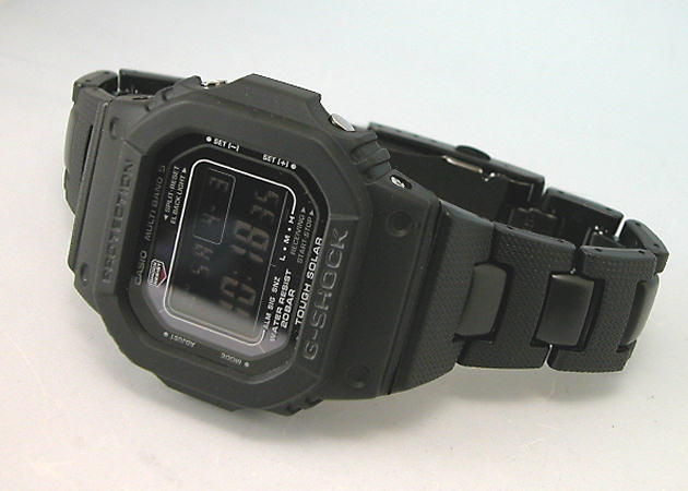 G 쇼크 카시오 지 쇼크 복합 금속 밴드 사양 터프 솔 러 전파 시계 MULTIBAND5 GW-M5600C-1JF