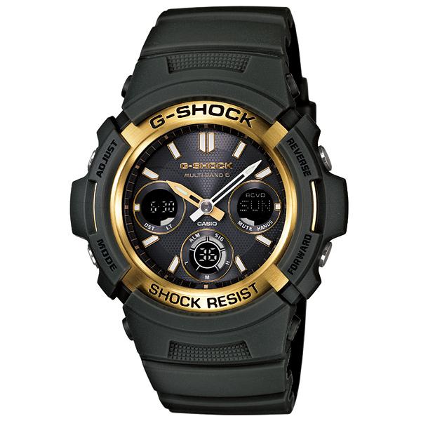 CASIO G-SHOCK G손크카시오지손크데지타르아나로그콘비네이션타후소라 전파 손목시계 AWG-M100A-3 AJF 크리스마스 선물 시계 남자친구 그녀 남성 여성 랩핑 무료