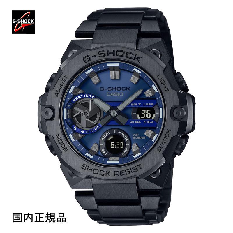 Gショック ジーショック 腕時計 信託 G-STEELソーラーBluetooth カーボンコアガード 希少 メンズ カーボンコアガード構造 国内正規品 使い勝手の良い G-SHOCK GST-B400BD-1A2JF