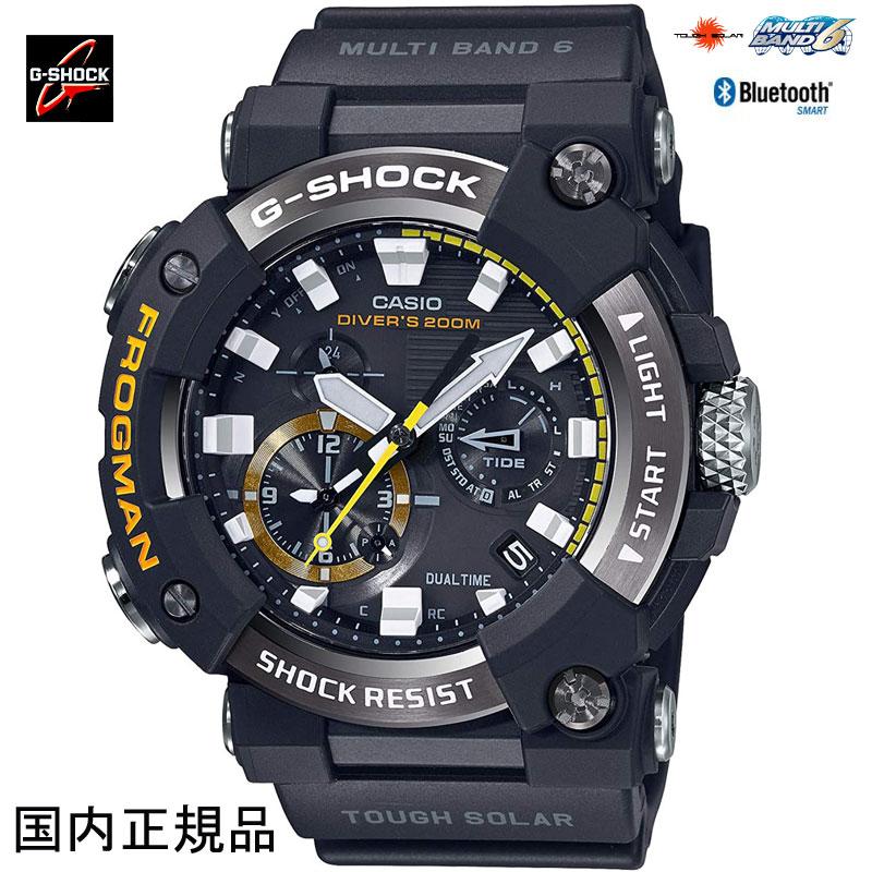 G-SHOCK ジーショック Bluetooth搭載電波ソーラーFROGMAN カーボンコアガード構造 GWF-A1000-1AJF フロッグマンメンズウォッチ 国内正規品