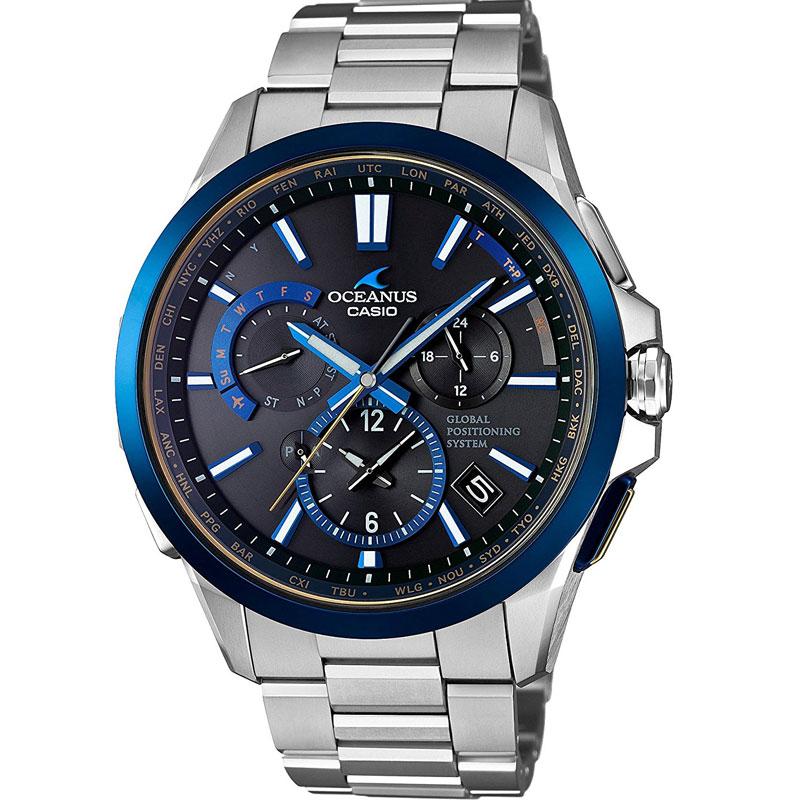カシオ 腕時計 オシアナス ブラックマーブル フルメタルGPSハイブリッド電波ソーラー MULTIBAND6 TOUGH MVT OCW-G1100TG-1AJF メンズウォッチ