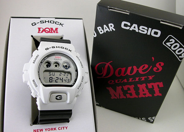 "G shock Casio 6600 culture shop ""DQM' collaboration with limited DW-6900DQM-7JR"