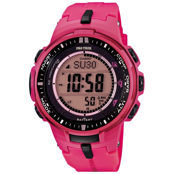 CASIO PROTREK プロトレック 腕時計 カシオ 腕時計 トリプルセンサー マルチバンド6ソーラー電波 ピンク PRW-3000-4BJF 国内正規品