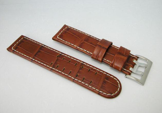 HAMILTON ハミルトン カーキパイロット腕時計用ブラウンカーフベルト22mm巾