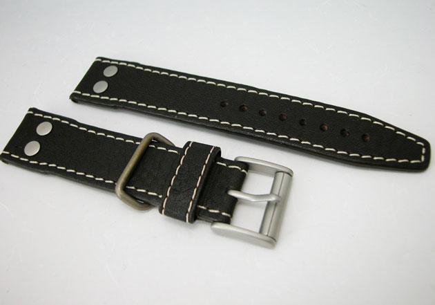 HAMILTON ハミルトン カーキパイオニア腕時計用ダークブラウンカーフベルト21mm巾