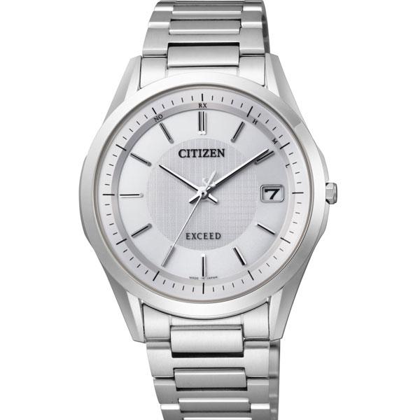 送料無料 シチズン CITIZEN 腕時計 メンズ EXCEED エクシード エコドライブ ソーラー 電波 時計 メンズウォッチ AS7090-51A 防水 アナログ ビジネス シンプル チタン シルバーホワイト ギフト プレゼント