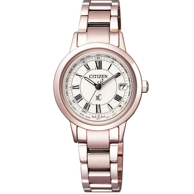 CITIZEN シチズン 腕時計 クロスシー サクラピンク XC ソーラー電波 北川景子さん ハッピーフライトレディース EC1144-51W