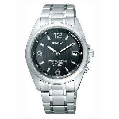 送料無料 シチズン CITIZEN 腕時計 メンズ REGNO レグノ ソーラーテック ソーラー 電波 時計 メンズウォッチ RS25-0343H 防水 新品 日本製 アナログ ビジネス シンプル ブラック 黒 ギフト プレゼント