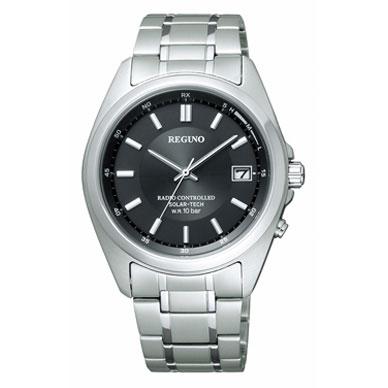 送料無料 シチズン CITIZEN 腕時計 メンズ REGNO レグノ ソーラーテック ソーラー 電波 時計 メンズウォッチ RS25-0344H 防水 新品 日本製 アナログ ビジネス シンプル ブラック 黒 ギフト プレゼント