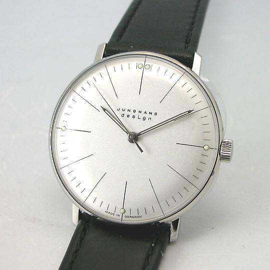 マックス・ビルBYユンハンス JUNGHANS 手巻き腕時計027 3700 00国内正規品 YDKG-tk