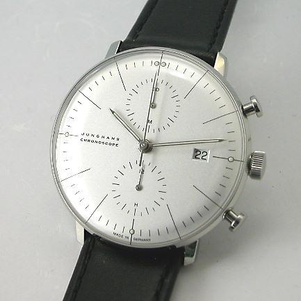 マックス・ビルBYユンハンス JUNGHANS クロノスコープ自動巻き腕時計027 4600 00国内正規品