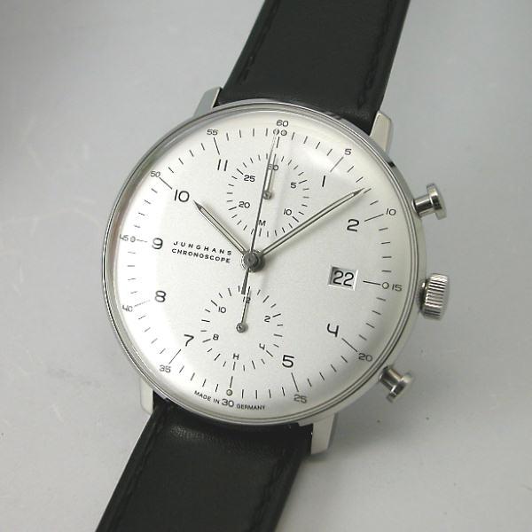 マックス・ビルBYユンハンス JUNGHANS クロノスコープ自動巻き 腕時計 027 4800 00国内正規品