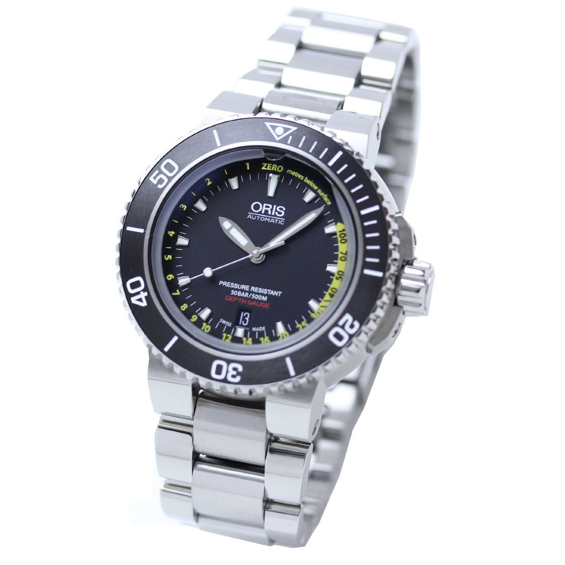 watchshop com mens orisaquisdate aquis watch gents original watches automatic oris