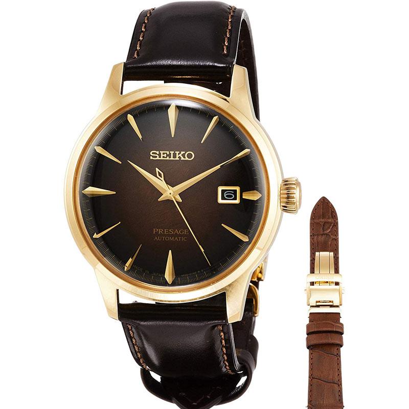 SEIKO セイコー 腕時計 自動巻 SARY134 限定 琥珀色文字盤 プレザージュ メカニカルメンズウォッチ 国内正規品