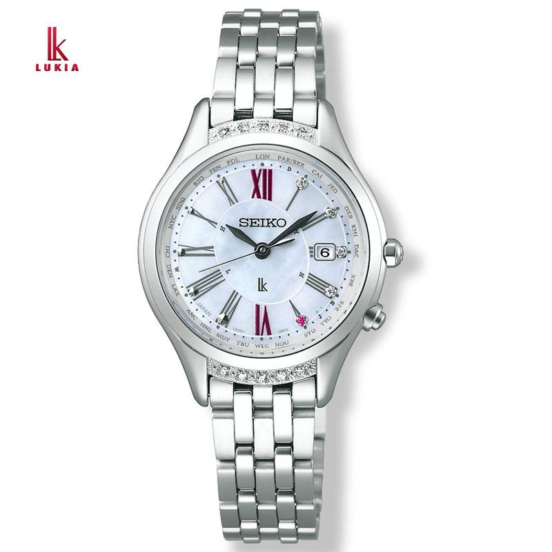 SEIKO セイコー 腕時計 ルキア LUKIA25周年限定モデル ソーラー電波ブレスレット SSVV059 レディース