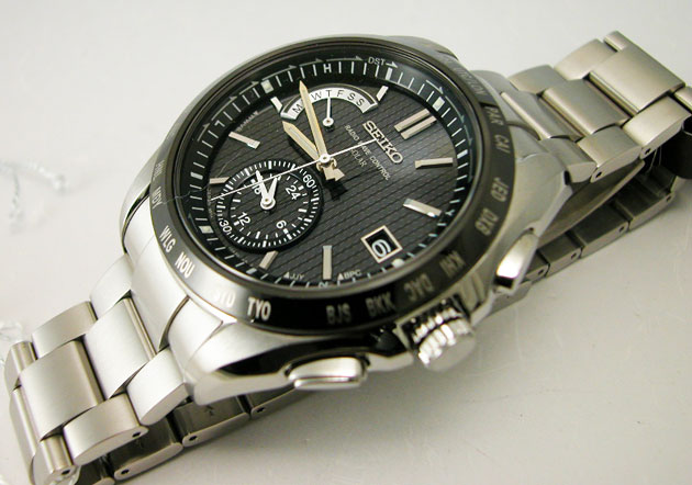 SEIKO brightz world time solar and radio SAGA131 mens SEIKO watches