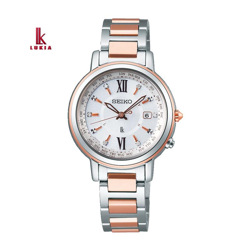 SEIKO セイコー 腕時計 LUKIA ルキア 腕時計 レディーダイヤモンド ソーラー電波チタン ラッキー パスポート ブレスレットSSQV034 国内正規品 レディース