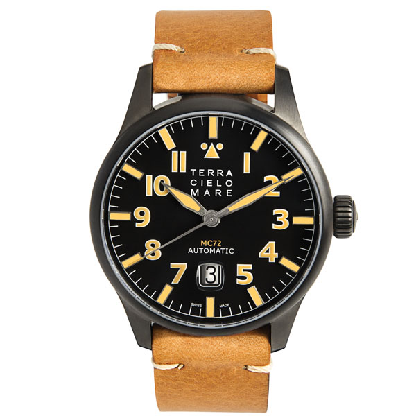 TERRA CIELO MARE テッラチエロマーレ AVIATORE アヴィアトーレ MK2 PVD 腕時計 自動巻き TC7103PVD3PA 国内正規品 メンズ