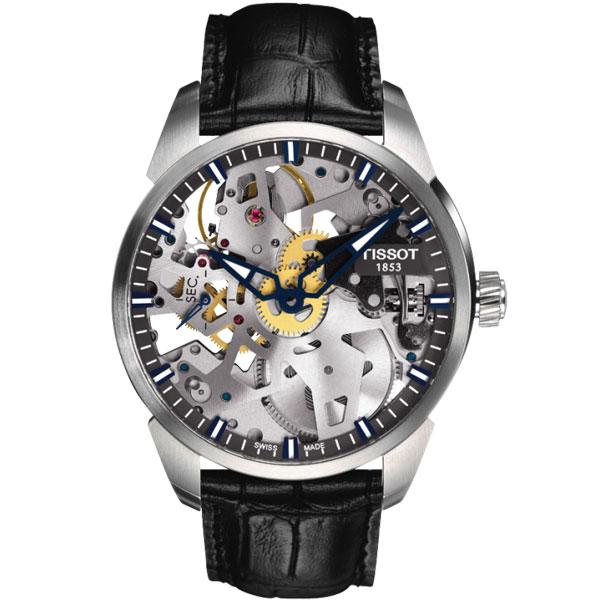 TISSOT ティソ 腕時計 T-コンプリカシオン スケレッテ T070.405.16.411.00 手巻き メンズ 国内正規品