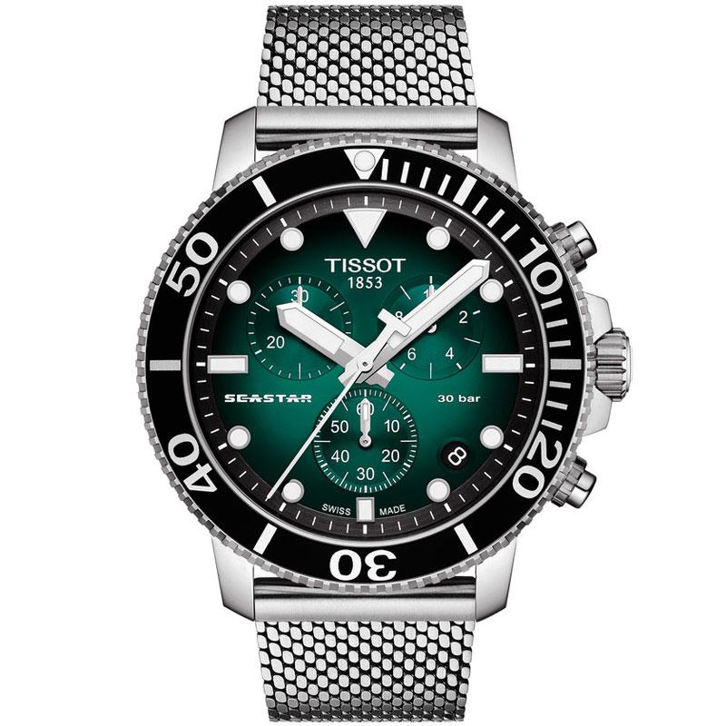 希望者のみラッピング無料 ティソ SEASTAR シースター 1000 クロノグラフ ついに再販開始 送料無料 腕時計 国内正規品 スイス TISSOT T1204171109100 メンズ