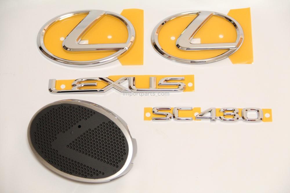 UZZ40 ソアラ用 レクサスSC430 純正エンブレムセット 気軽にレクサス仕様に
