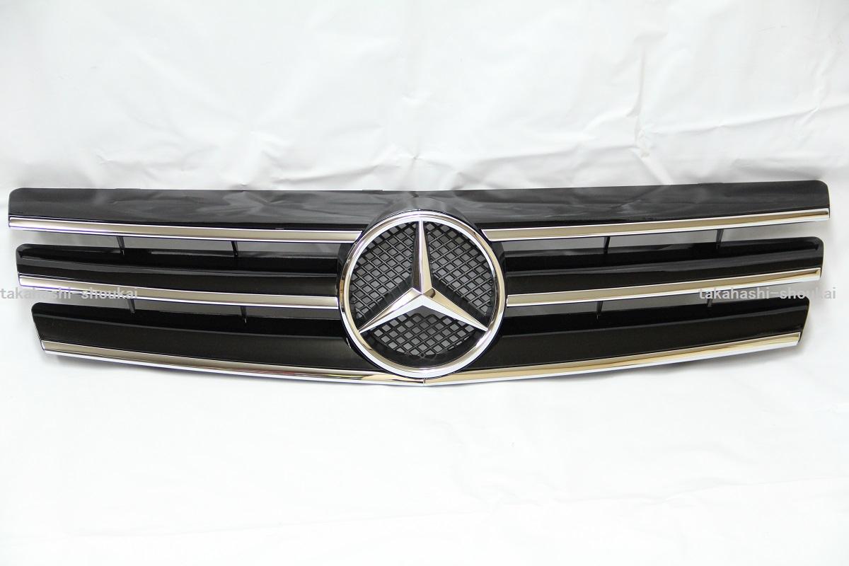【組立完成品出荷】メルセデスベンツ SLクラス R129 フロントグリル 3フィンスタイル ブラック 黒SL320 SL500 SL600 500SL