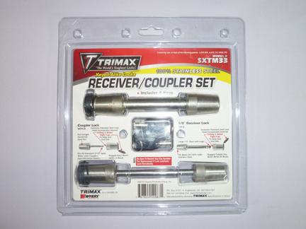 TRIMAXステンレス製カプラーロック(幅広)+レシーバーロックセットSXTM33