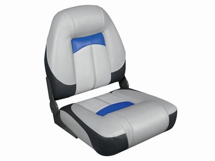 プロクオリファイアハイバックシートグレー/チャコール/青クイックリリースシートスイベル セット