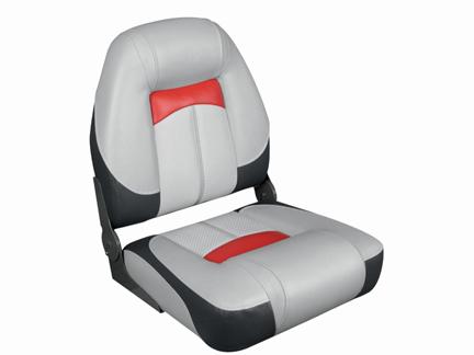 プロクオリファイアハイバックシートグレー/チャコール/赤クイックリリースシートスイベル セット