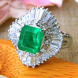 エメラルド リング プラチナ PT900 (5月誕生石) ダイヤモンド 指輪 r418 レディース パワーストーン ジュエリー 天然石 宝石 ダイアモンド ファッションリング 1点もの(bkp50)498000 お返し