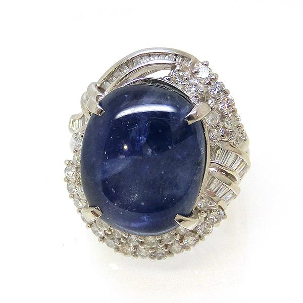 リング PT900 プラチナ スターサファイア サファイヤ 9月誕生石 ダイヤモンド 指輪 ok182561 レディース ジュエリー 天然石 豪華 ダイア1ct(1カラット)1070000 お返し