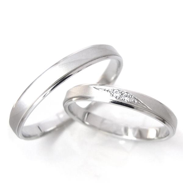 指輪 PT900(プラチナ) 地金(ジガネ) CITIZEN(シチズン) nocur(ノクル)ダイヤモンド 女性用 男性用 刻印(文字入れ)無料 ジュエリー 宝石 天然 ペアリング 結婚指輪 ブライダル mens:cn-050/ladys:cn-049(ND)