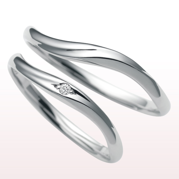 指輪 ペアリング・マリッジリング 【CITIZEN(シチズン) nocur(ノクル)】女性用 男性用 「PT900(プラチナ)/地金(ジガネ)」刻印(文字入れ)無料 ジュエリー 記念日・誕生日(ND)結婚指輪 ブライダル cn-056-cn-055(diamond)